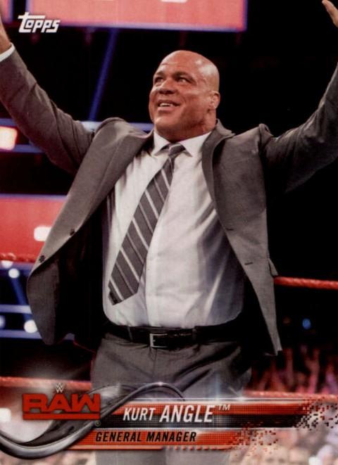 2018 WWE Wrestling Cards (Topps) Kurt Angle (No.49)