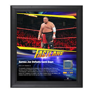 Samoa Joe FastLane 2017 15 x 17 Framed Plaque w Ring Canvas