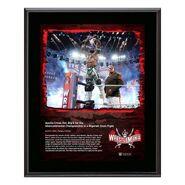 Apollo Crews WrestleMania 37 10x13 Commemorative Plaque