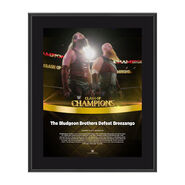Bludgeon Brothers Clash of Champions 2017 10 x 13 Commemorative Photo Plaque