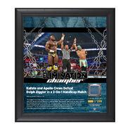 Kalisto & Apollo Crews Elimination Chamber 2017 15 x 17 Framed Plaque w Ring Canvas
