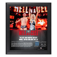 Miz & Maryse Hell in a Cell 2018 15 x 17 Framed Plaque w Ring Canvas