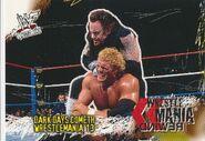 2001 WWF WrestleMania (Fleer) Dark Days Cometh 93