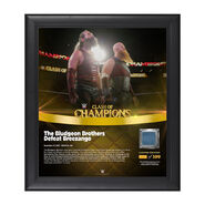 Bludgeon Brothers Clash of Champions 2017 15 x 17 Framed Plaque w Ring Canvas