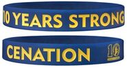John Cena 10 Years Strong Authentic rubber bracelet