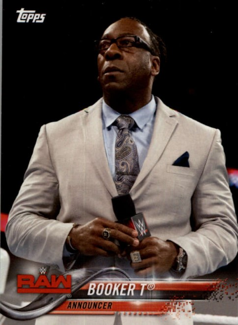 2018 WWE Wrestling Cards (Topps) Booker T (No.16)