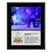 Undertaker Greatest Royal Rumble 2018 10 x 13 Photo Plaque