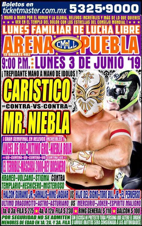 CMLL Lunes Arena Puebla (June 3, 2019)