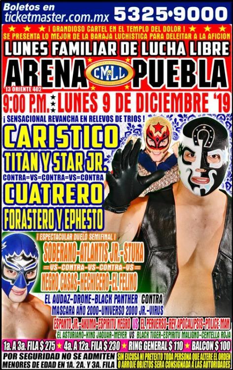 CMLL Lunes Arena Puebla (December 9, 2019)