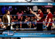 2019 WWE Road to WrestleMania Trading Cards (Topps) Kevin Owens & Sami Zayn 75