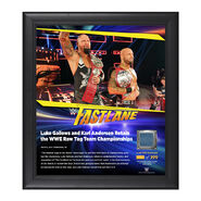 Gallows & Anderson FastLane 2017 15 x 17 Framed Plaque w Ring Canvas