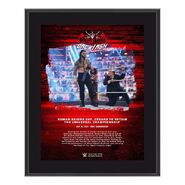 Roman Reigns WrestleMania Backlash 2021 10x13 Commemorative Plaque