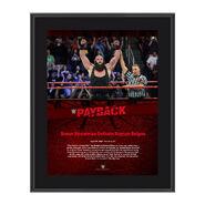 Braun Strowman Payback 2017 10 x 13 Commemorative Photo Plaque