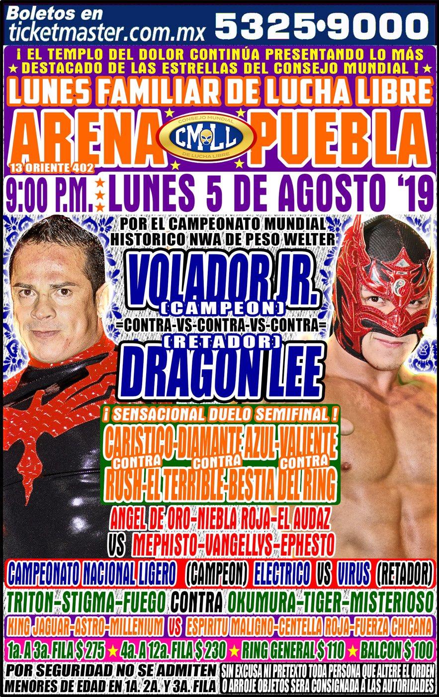 CMLL Lunes Arena Puebla (August 5, 2019)