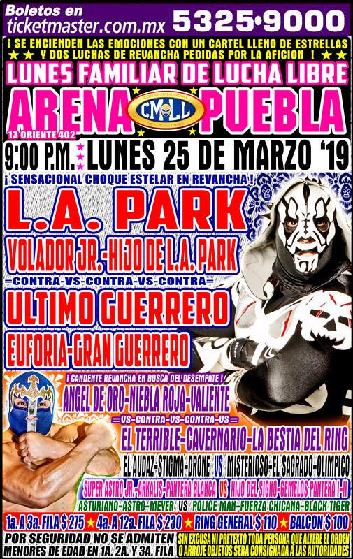 CMLL Lunes Arena Puebla (March 25, 2019)