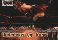 2001 WWF RAW Is War (Fleer) Undertaker vs. Kane 78