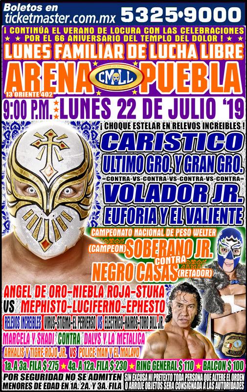 CMLL Lunes Arena Puebla (July 22, 2019)