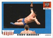 2008 WWE Heritage IV Trading Cards (Topps) Cody Rhodes 11