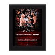 Brock Lesnar No Mercy 2017 10 x 13 Commemorative Photo Plaque