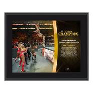 Charlotte Flair Clash of Champions 2017 10 x 13 Commemorative Photo Plaque