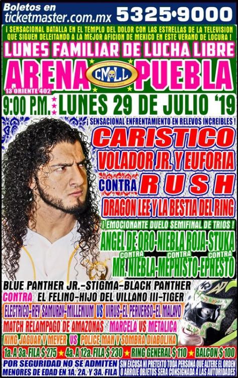 CMLL Lunes Arena Puebla (July 29, 2019)