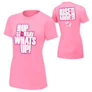 R-Truth Rise Above Cancer Pink Women's T-Shirt