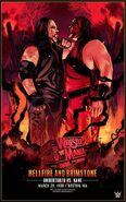 WrestleMania 14 Undertaker vs Kane Legendary Moments Poster