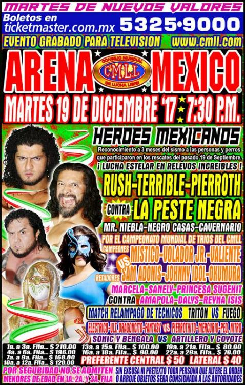 CMLL Martes Arena Mexico (December 19, 2017)