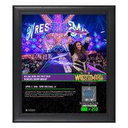 Nia Jax WrestleMania 34 15 x 17 Framed Plaque w Ring Canvas