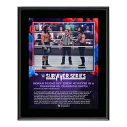 Roman Reigns Survivor Series 2020 10 x 13 Commemorative Plaque