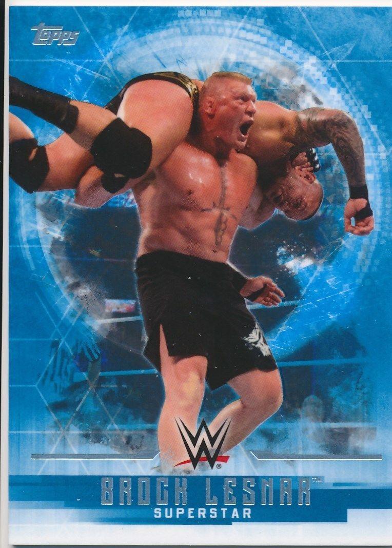 2017 WWE Undisputed Wrestling Cards (Topps) Brock Lesnar (No.7)