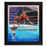 Bayley SummerSlam 2019 15 x 17 Framed Plaque w Ring Canvas