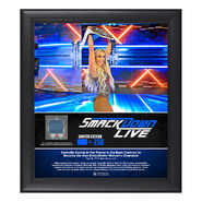 Carmella SmackDown Live New Orleans 15 x 17 Framed Plaque w Ring Canvas