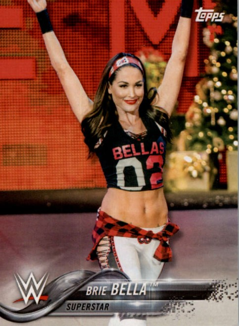 2018 WWE Wrestling Cards (Topps) Brie Bella (No.18)