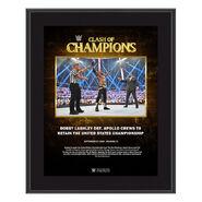 Bobby Lashley Clash of Champions 2020 10 x 13 Commemorative Plaque