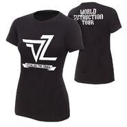 Dolph Ziggler World DZtruction Tour Women's Authentic T-Shirt