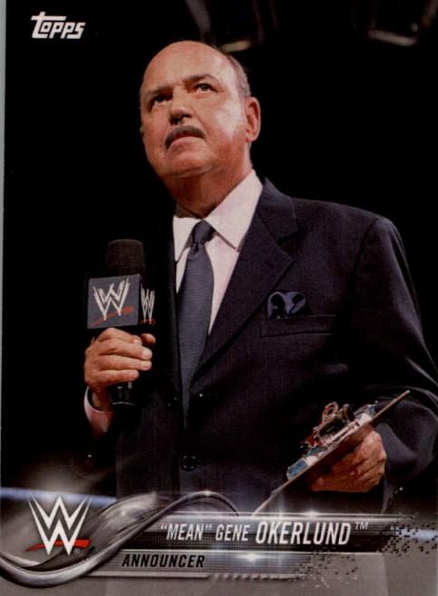 2018 WWE Wrestling Cards (Topps) Mean Gene Okerlund (No.56)