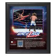 AJ Styles & Shinsuke Nakamura BackLash 2018 15 x 17 Framed Plaque w Ring Canvas