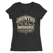 BOBBY LASHLEY & MICKIE JAMES MMC COUNTRY DOMINANCE WOMEN'S TRI-BLEND T-SHIRT
