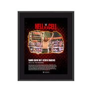 Sami Zayn Hell in A Cell 2021 10 x 13 Commemorative Plaque