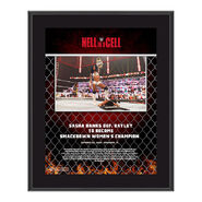 Sasha Banks Hell In A Cell 2020 10x13 Commemorative Plaque