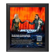 The Miz Backlash 2016 15 x 17 Framed Plaque w Ring Canvas