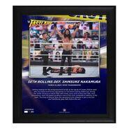 Seth Rollins FastLane 2021 15 x 17 Commemorative Plaque