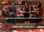 2017 WWE Road to WrestleMania Trading Cards (Topps) Daniel Bryan & Mick Foley 96
