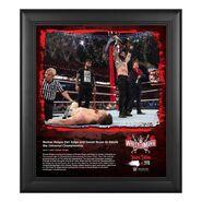 Roman Reigns WrestleMania 37 15x17 Commemorative Plaque