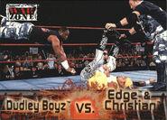 2001 WWF RAW Is War (Fleer) Dudley Boyz vs. Edge & Christian 65