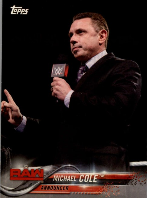 2018 WWE Wrestling Cards (Topps) Michael Cole (No.57)