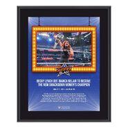 Becky Lynch SummerSlam 2021 10x13 Commemorative Plaque