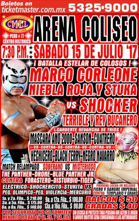 CMLL Sabados De Coliseo (July 15, 2017)