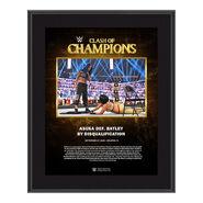 SmackDown Women's Championship Clash of Champions 2020 10 x 13 Commemorative Plaque